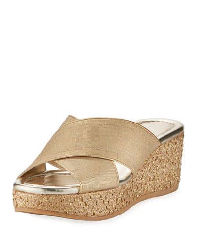 Donald J Pliner Savee Metallic Wedge Sandal