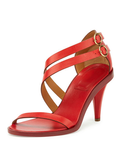 Chloe Double-Strap 80mm Sandal