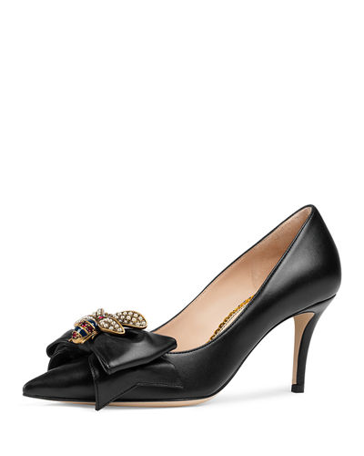 Gucci Queen Margaret Leather Pump