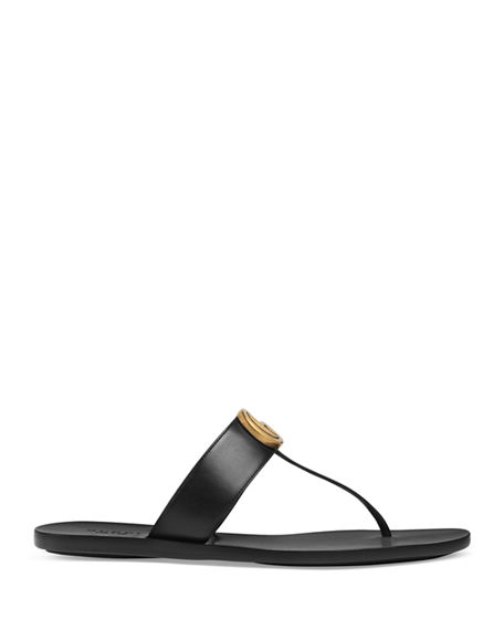 7c11982f197 Image 2 of 4  Gucci Flat Marmont Leather Thong