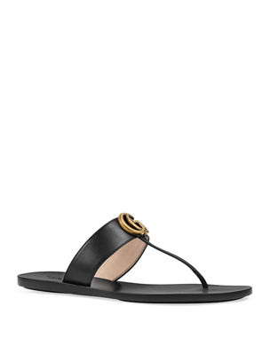 4dbfc2a3e516 PVC Rockstud Flat Sandals.  475 · Gucci Flat Marmont Leather Thong