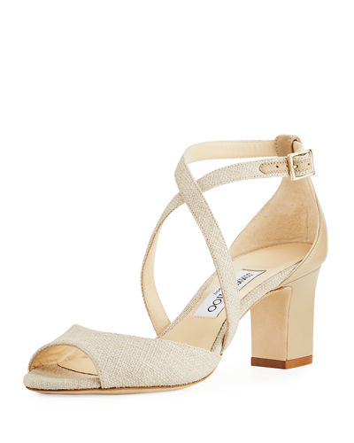 Jimmy Choo Carrie Canvas 65mm Sandal