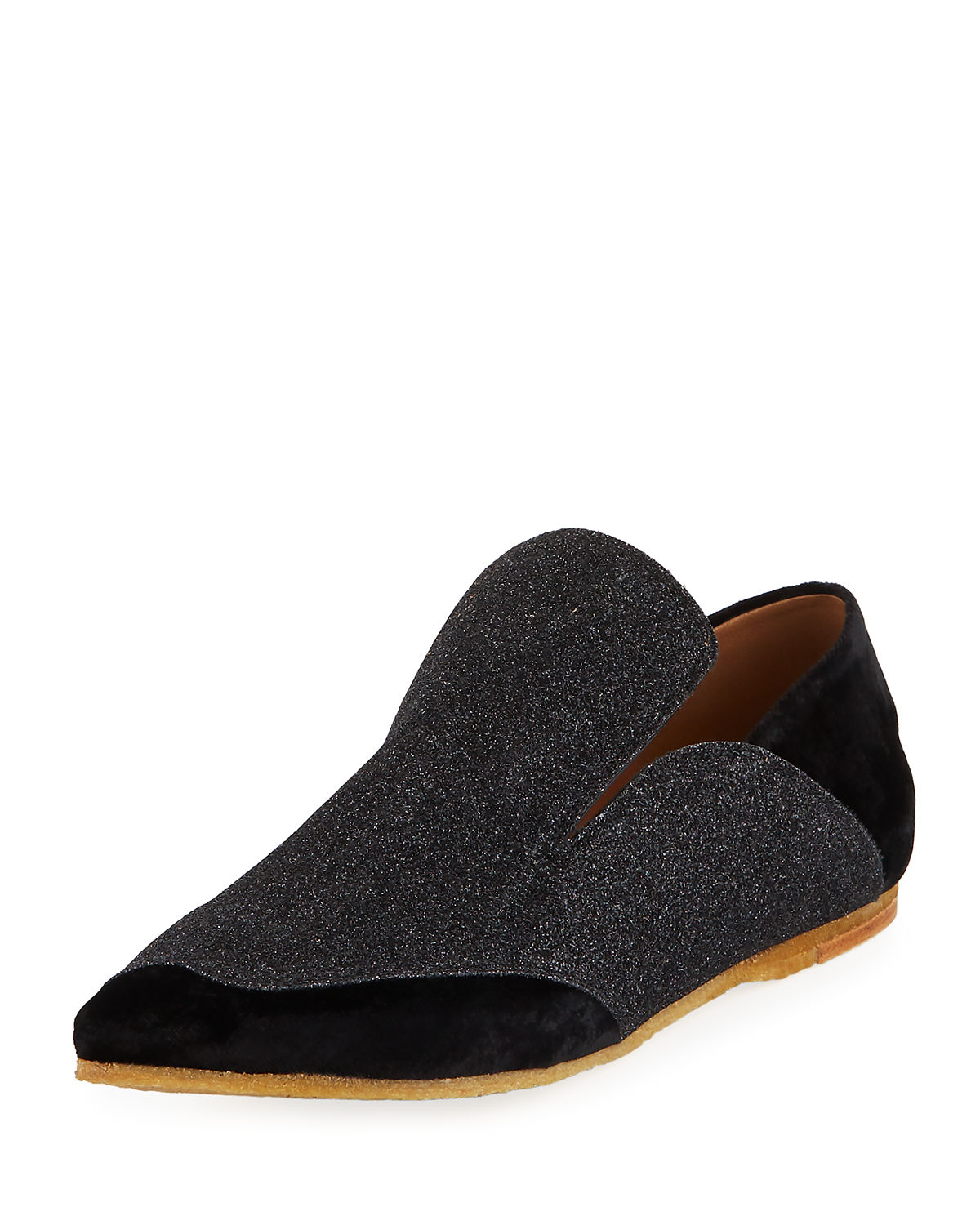 Dries Van Noten Glitter Pointed-Toe Loafers free shipping fake cheap price cost mr2abd4
