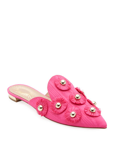 Sunflower Studded Mule Slide