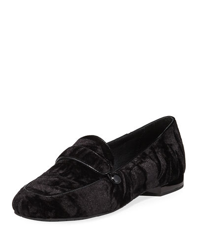 Donald J Pliner Haven Velvet Flat Loafer
