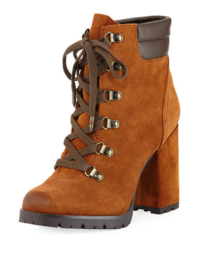 Carolena Velutto Lace-Up Boot