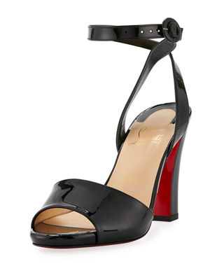 Havana Forties Patent Red Sole Sandal
