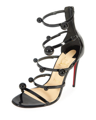 Image 1 of 4: Atonana Patent Strappy Red Sole Sandal