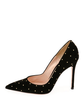Suede Studded 105mm Pump