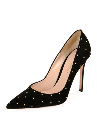 TYLER STUDDED SUEDE PUMPS