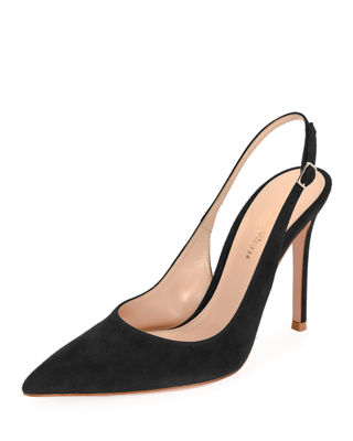Image 1 of 3: Suede Slingback 105mm Pump