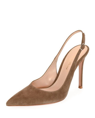 Suede Slingback 105mm Pump