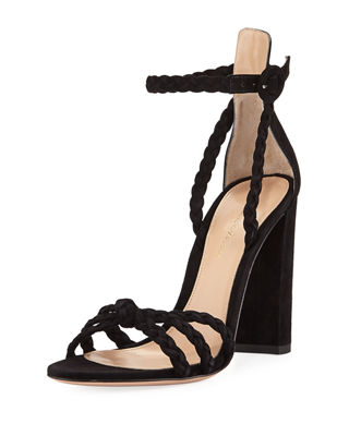 Braided Suede 105mm Sandal