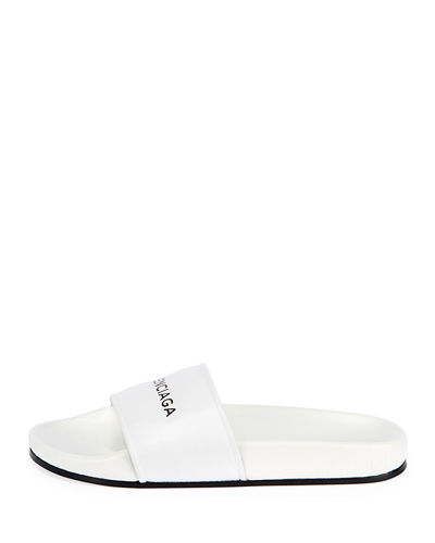 Logo Flat Pool Slide Sandal