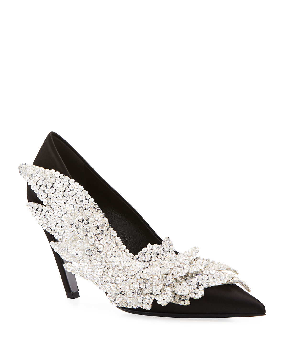 5a64a05d1402aa Balenciaga Embroidered Talon Slash Pumps