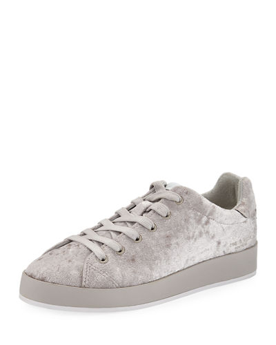 Rag & Bone RB1 Low-Top Velvet Low-Top Sneaker