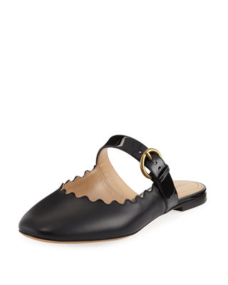 Chloe Lauren Flat Leather Mary Jane Slide