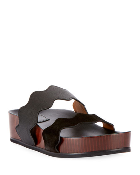 Neiman Marcus Leather Quilted Sandals Sast For Sale w97lTeRLL