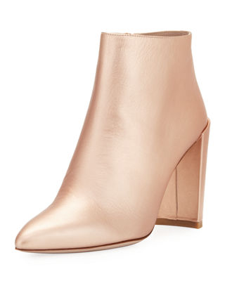 Stuart Weitzman Metallic Leather Booties