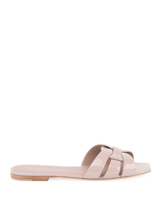 Tribute Patent Leather Flat Slide Sandal