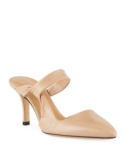 Gala Twist Leather Mule Pumps