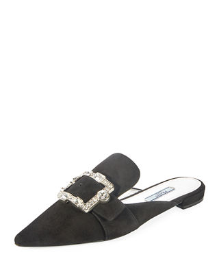Image 1 of 3: Embellished Suede 10mm Mule