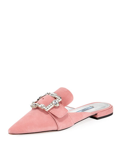 Embellished Suede 10mm Mule