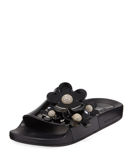 Marc Jacobs Leather Slide Sandals New Release Quality From China Cheap On Hot Sale tiTB6ht
