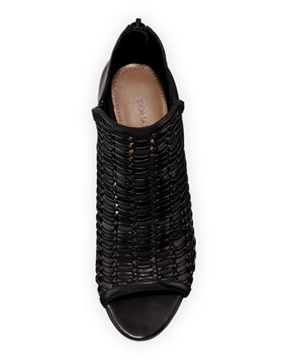 Image 4 of 4: Jacqi Woven Leather Bootie