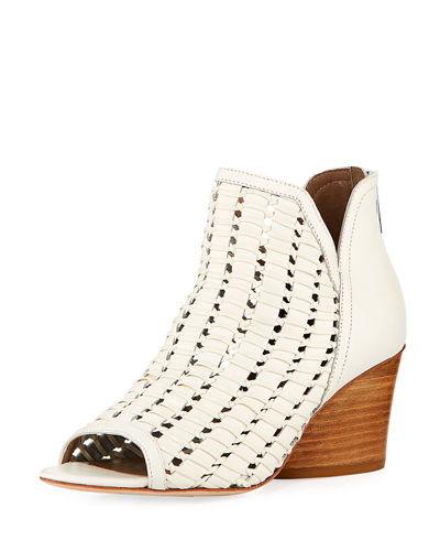 Jacqi Woven Leather Bootie