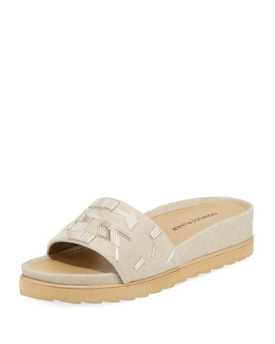 Cava Felt Beaded Slide Sandal