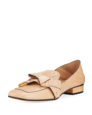 Chloe Quincy Shiny Ballerina Loafer Mule