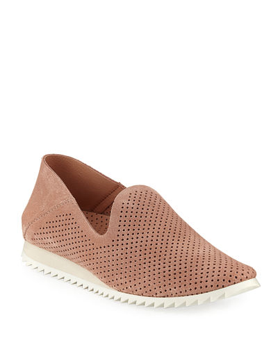Cristiane Perforated Suede Sneakers