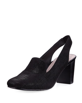 Image 1 of 4: Posy Distressed Leather Slingback Pump