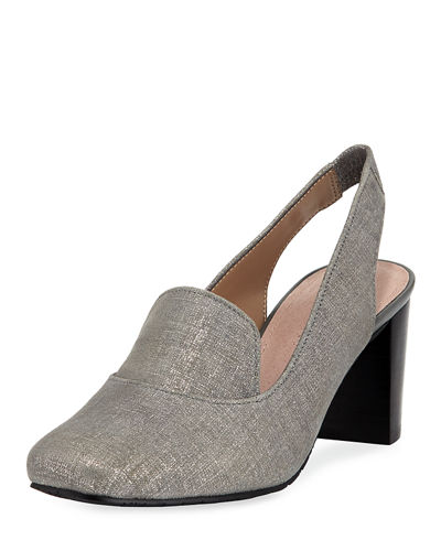 Donald J Pliner Posy Distressed Leather Slingback Pump