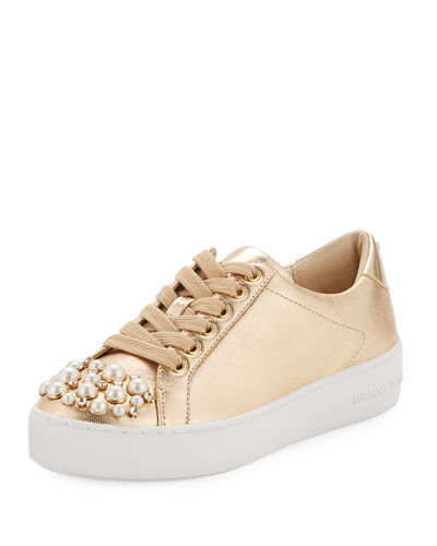 Poppy Embellished Metallic Sneakers