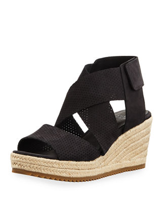 Image 1 of 4: Willow Perforated Nubuck Espadrille Sandal