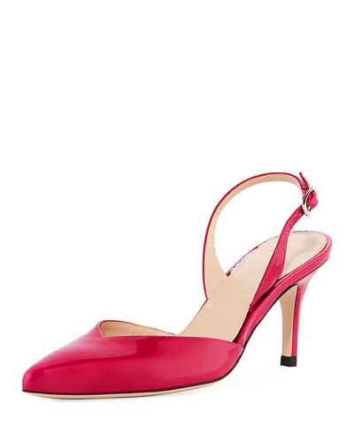 Sleek Patent Slingback Pump