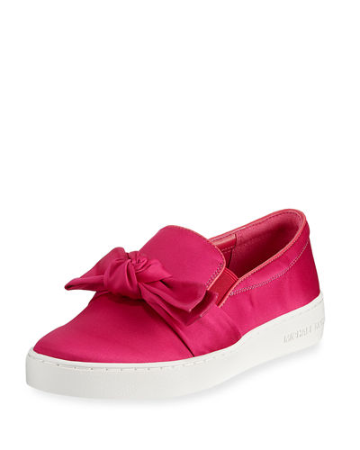 Willa Satin Bow Skate Sneaker