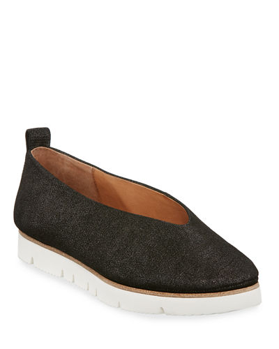 Gentle Souls Demi Brushed Glitter Comfort Slip-On