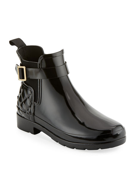 Hunter Boot Refined Gloss Quilted Chelsea Boot