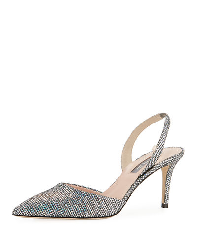 Bliss Metallic Mesh-Net Evening Pump
