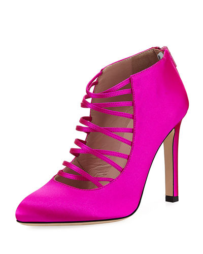 Revere Satin Strappy Pump