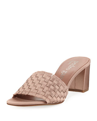 Image 1 of 3: Xian Woven Satin Slide Sandal