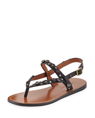Coach Hudson Tea Rose Flat Thong Sandal