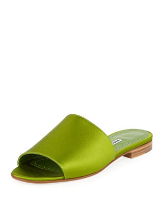 Image 1 of 3: Rapalla Satin Flat Slide Sandal