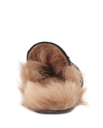 10mm Princetown Velvet Mule with Fur