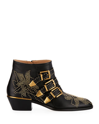 Image 2 of 3: Suzanna Studded Buckle Bootie