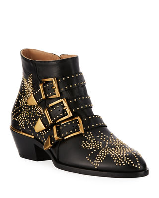 Image 1 of 3: Suzanna Studded Buckle Bootie