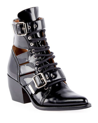 Chloe Riley Lace-Up Box Calf Boot